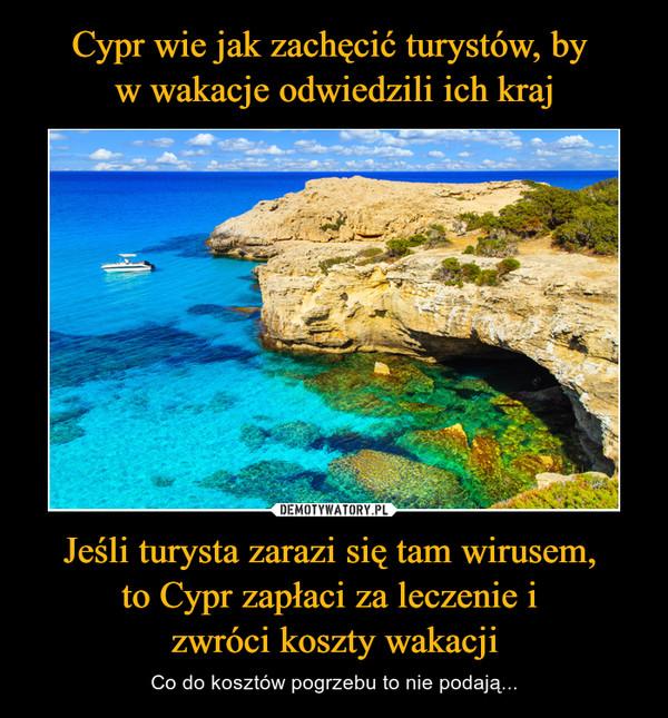 Jeśli turysta zarazi się tam wirusem, to Cypr zapłaci za leczenie i zwróci koszty wakacji – Co do kosztów pogrzebu to nie podają...
