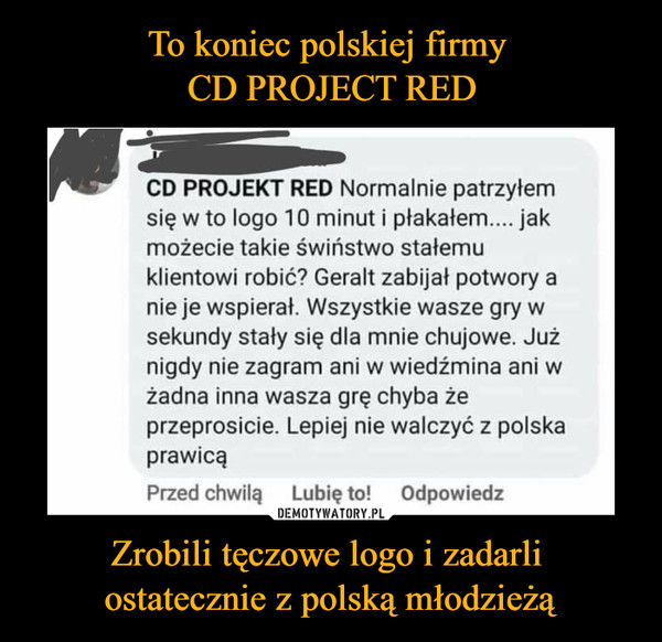 Zrobili tęczowe logo i zadarli ostatecznie z polską młodzieżą –