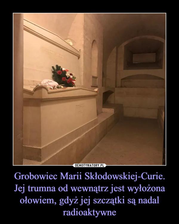 Grobowiec Marii Skłodowskiej-Curie.Jej trumna od wewnątrz jest wyłożona ołowiem, gdyż jej szczątki są nadal radioaktywne –