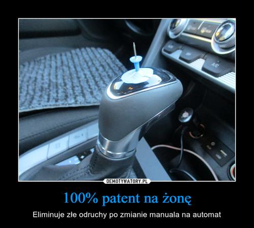 100% patent na żonę