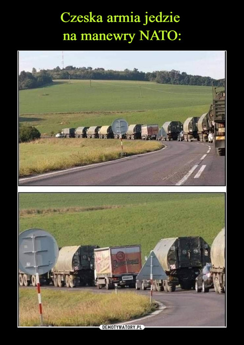 Czeska armia jedzie  na manewry NATO: