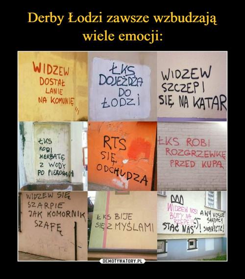 Derby Łodzi zawsze wzbudzają wiele emocji: