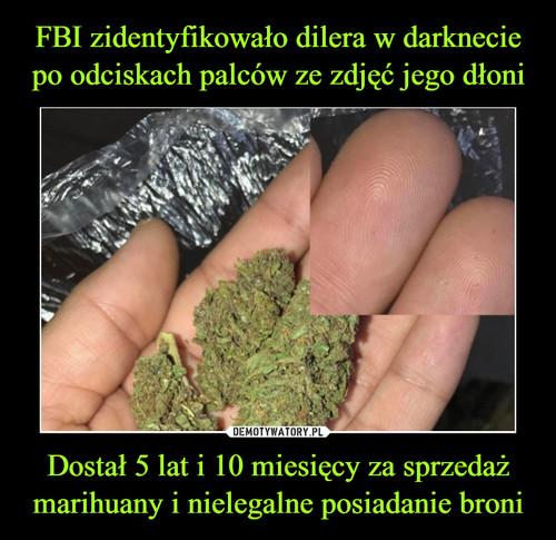FBI zidentyfikowało dilera w darknecie po odciskach palców ze zdjęć jego dłoni Dostał 5 lat i 10 miesięcy za sprzedaż marihuany i nielegalne posiadanie broni