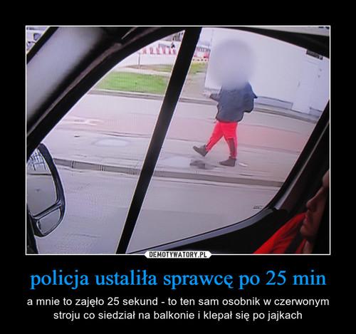 policja ustaliła sprawcę po 25 min