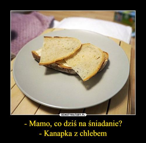 - Mamo, co dziś na śniadanie? - Kanapka z chlebem