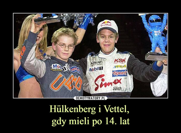 Hülkenberg i Vettel, gdy mieli po 14. lat –