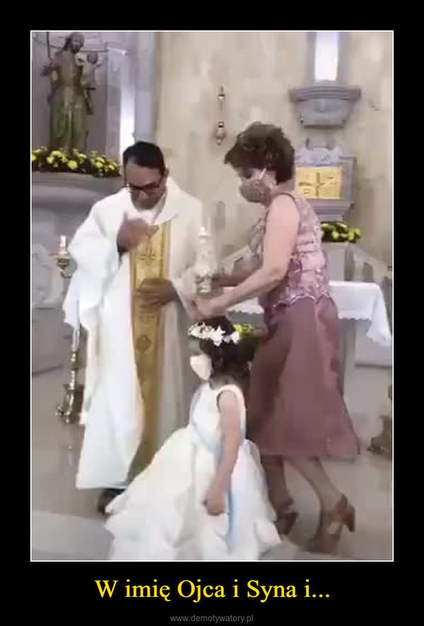 W imię Ojca i Syna i... –