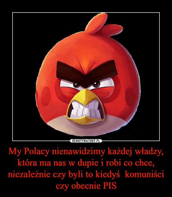 My Polacy nienawidzimy każdej władzy, która ma nas w dupie i robi co chce, niezależnie czy byli to kiedyś  komuniści czy obecnie PIS –