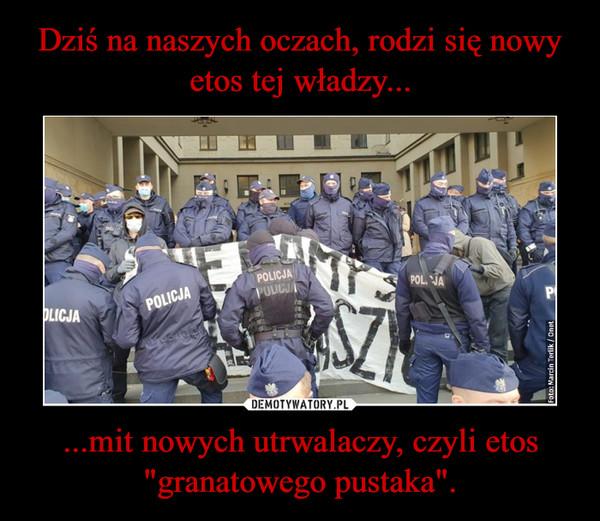 """...mit nowych utrwalaczy, czyli etos """"granatowego pustaka"""". –"""