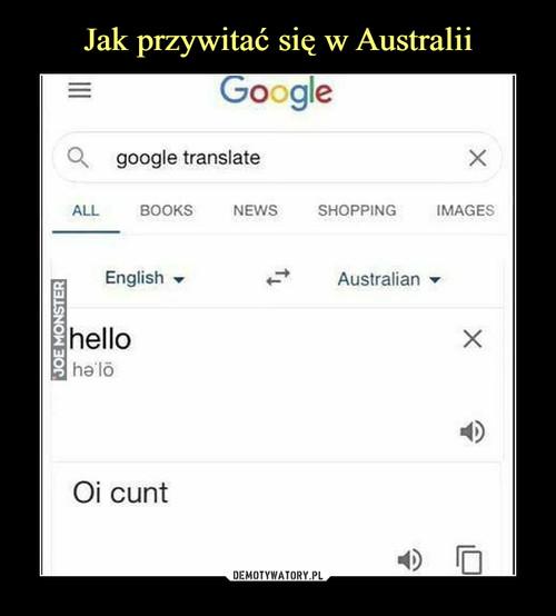 Jak przywitać się w Australii