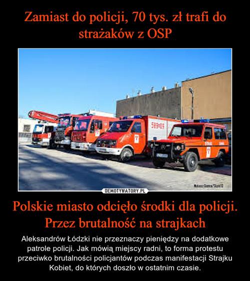 Zamiast do policji, 70 tys. zł trafi do strażaków z OSP Polskie miasto odcięło środki dla policji. Przez brutalność na strajkach