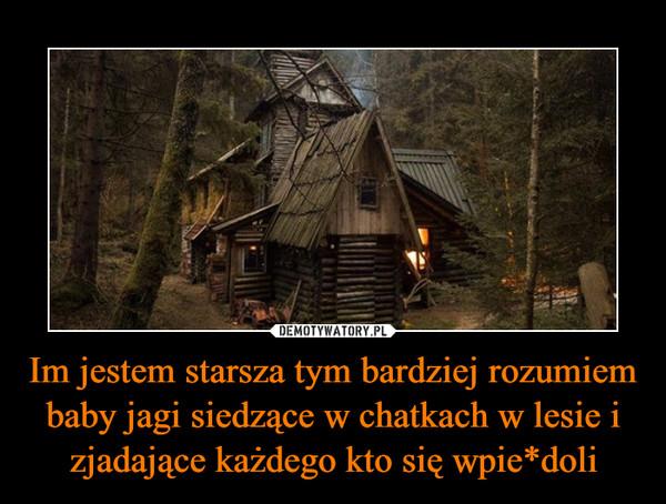 Im jestem starsza tym bardziej rozumiem baby jagi siedzące w chatkach w lesie i zjadające każdego kto się wpie*doli –