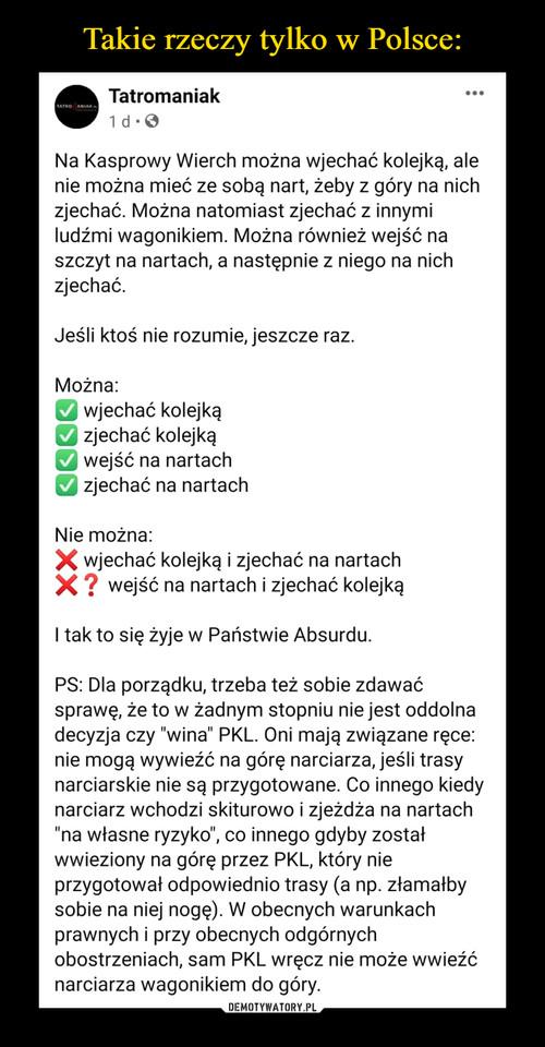 Takie rzeczy tylko w Polsce: