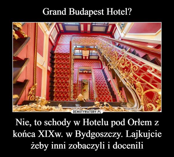 Nie, to schody w Hotelu pod Orłem z końca XIXw. w Bydgoszczy. Lajkujcie żeby inni zobaczyli i docenili –