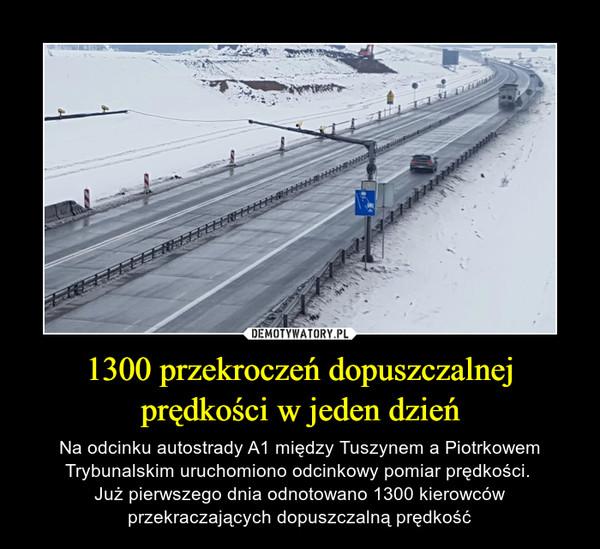1300 przekroczeń dopuszczalnej prędkości w jeden dzień – Na odcinku autostrady A1 między Tuszynem a Piotrkowem Trybunalskim uruchomiono odcinkowy pomiar prędkości. Już pierwszego dnia odnotowano 1300 kierowcówprzekraczających dopuszczalną prędkość