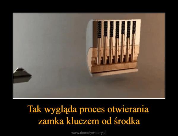 Tak wygląda proces otwierania zamka kluczem od środka –