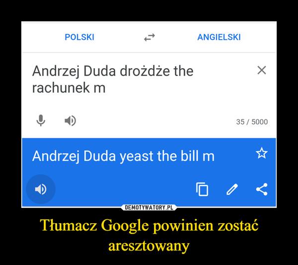 Tłumacz Google powinien zostać aresztowany –
