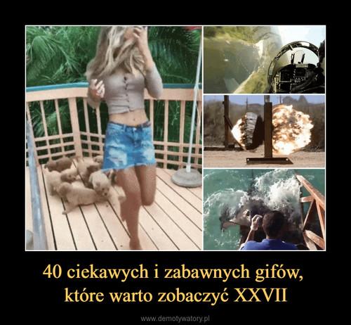 40 ciekawych i zabawnych gifów,  które warto zobaczyć XXVII