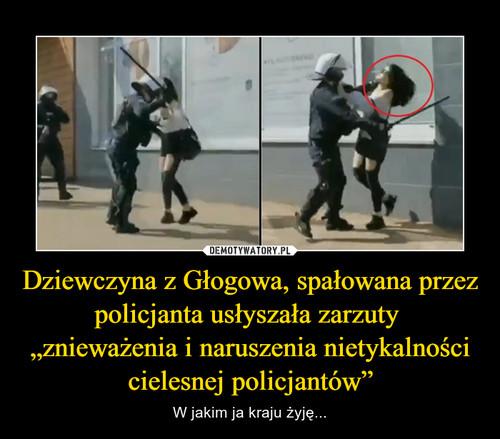 """Dziewczyna z Głogowa, spałowana przez policjanta usłyszała zarzuty  """"znieważenia i naruszenia nietykalności cielesnej policjantów"""""""