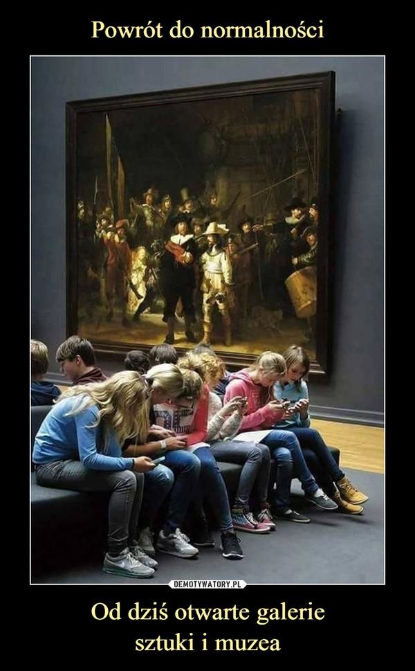 Od dziś otwarte galeriesztuki i muzea –