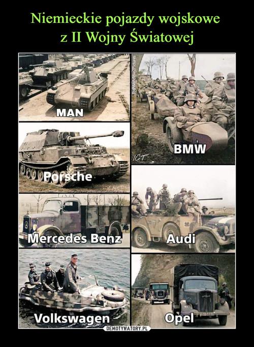 Niemieckie pojazdy wojskowe  z II Wojny Światowej