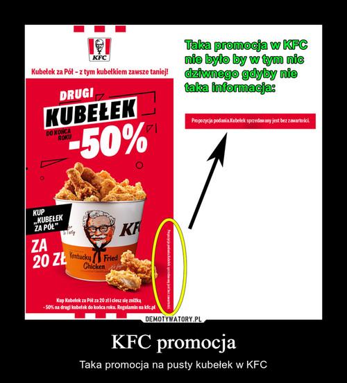 KFC promocja