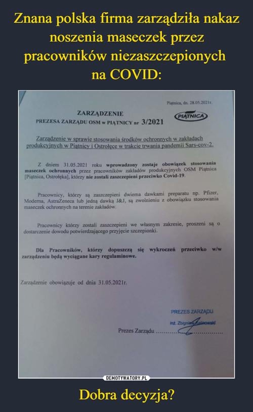 Znana polska firma zarządziła nakaz noszenia maseczek przez pracowników niezaszczepionych  na COVID: Dobra decyzja?