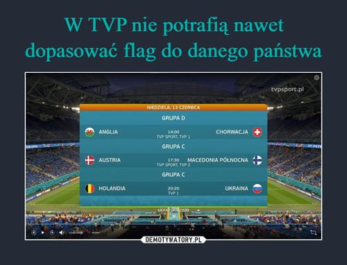 W TVP nie potrafią nawet dopasować flag do danego państwa