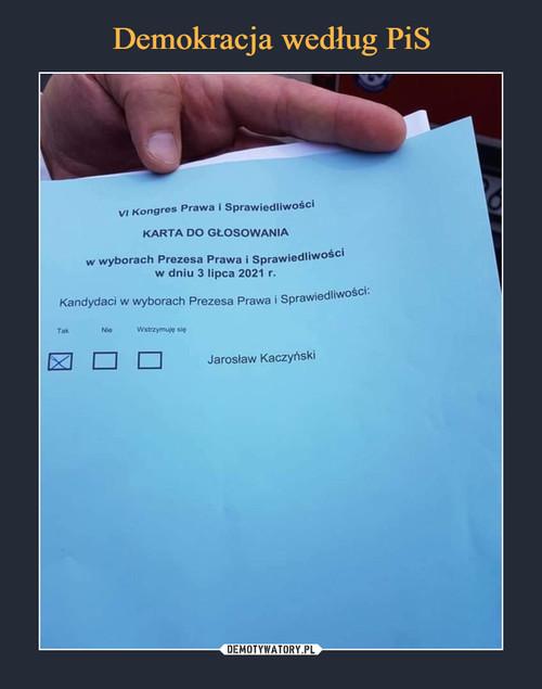 Demokracja według PiS
