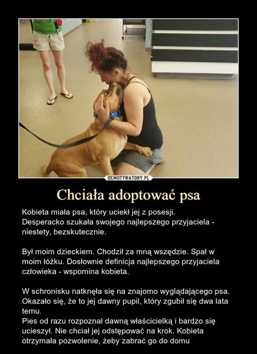 Chciała adoptować psa