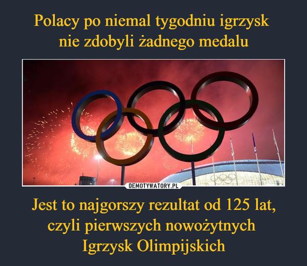Jest to najgorszy rezultat od 125 lat, czyli pierwszych nowożytnych Igrzysk Olimpijskich –