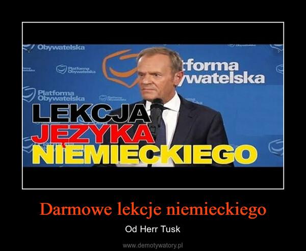 Darmowe lekcje niemieckiego – Od Herr Tusk