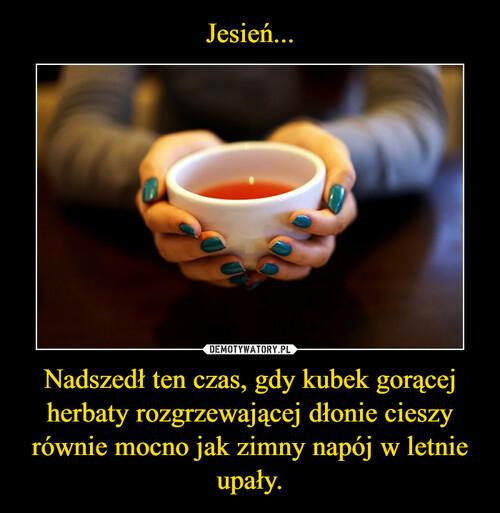 Jesień... Nadszedł ten czas, gdy kubek gorącej herbaty rozgrzewającej dłonie cieszy równie mocno jak zimny napój w letnie upały.