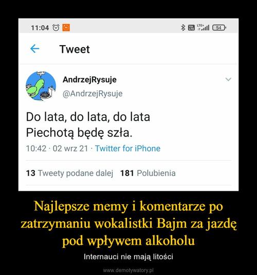 Najlepsze memy i komentarze po zatrzymaniu wokalistki Bajm za jazdę pod wpływem alkoholu