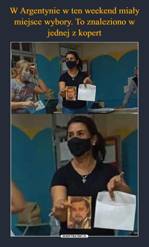 W Argentynie w ten weekend miały miejsce wybory. To znaleziono w jednej z kopert