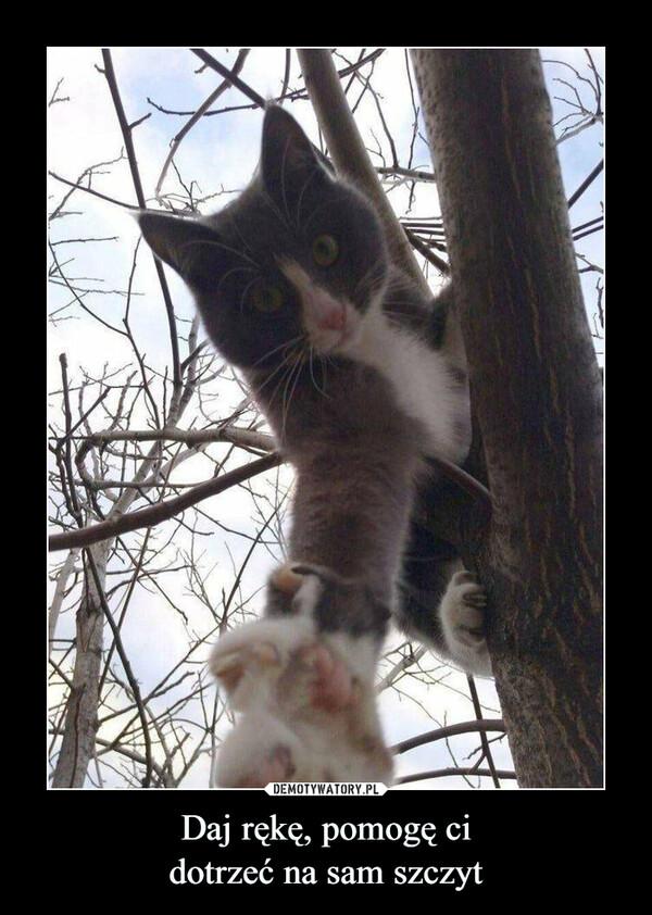 Daj rękę, pomogę cidotrzeć na sam szczyt –
