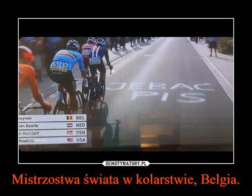 Mistrzostwa świata w kolarstwie, Belgia.