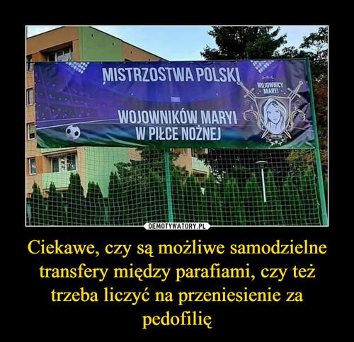 Ciekawe, czy są możliwe samodzielne transfery między parafiami, czy też trzeba liczyć na przeniesienie za pedofilię