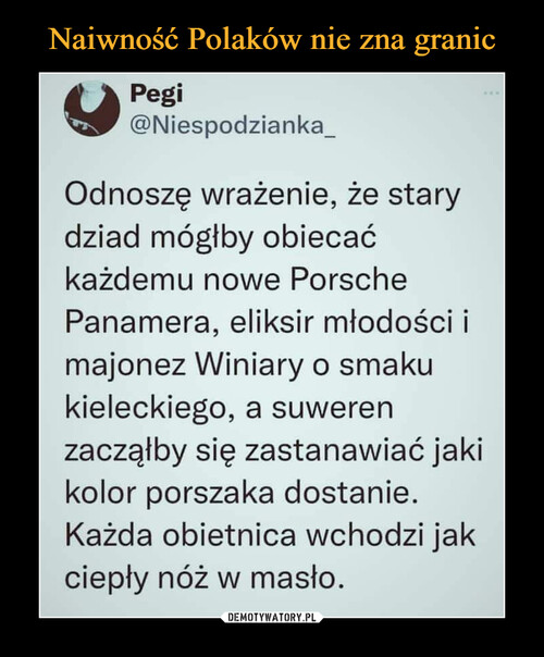 Naiwność Polaków nie zna granic